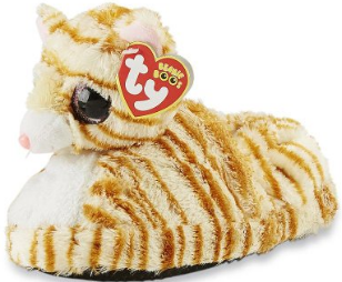 Beanie baby boos toddler girls raised cat slippers