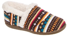 Toms Earth Woolen Fair isle Youth Girls slippers