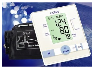 Gurin Upper Arm Automatic Digital Blood pressure Monitor BPM-110 with EasyFit Cuff