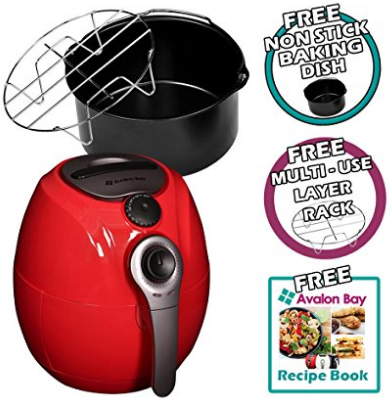 Avalon Bay AB-Airfryer100R Airfryer (Red)