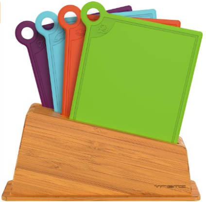 Vremi Cutting Board Set in Holder