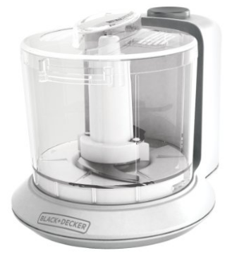 BLACK+DECKER HC306 1-1/2-Cup One-Touch Electric Chopper, White