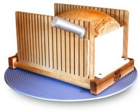 Bread Pal Bread Slicer | Made in America | The Original Foldable Slicer | Made With Maple and Birch | Accepts Large or Small Loaves | Cuts Thick or Thin | Perfect Slicing Made Easy
