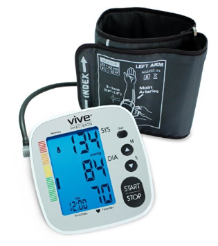 Blood Pressure Monitor by VIVE Precision - Best Automatic Digital Upper Arm Cuff - Most Accurate