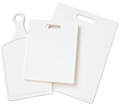 Farberware 3-Piece Assorted Poly Cutting Board Set
