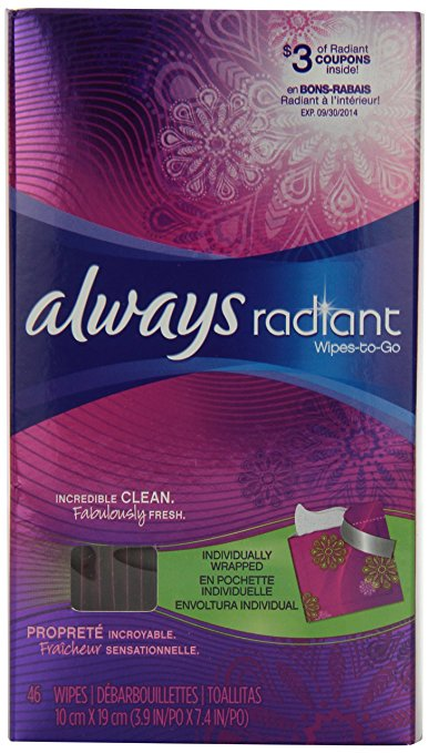 Always Radiant Wipes
