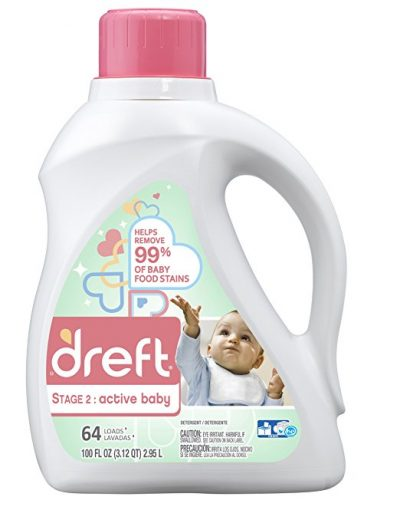 Dreft Stage 2 Active Baby Liquid Laundry Detergent