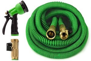 All NEW 2017 GrowGreen 50 Feet Expandable Garden hose with 8 pattern Spray Nozzle