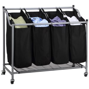 Ollieroo Classics Four Bag Laundry Sorter Cart