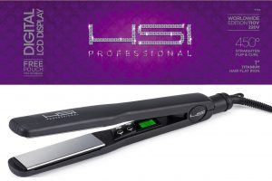 HIS Professional Titanium Tourmaline Ionic Flat Iron