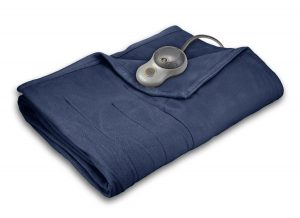 Electric Blankets Sunbeam Quilted Fleece Heated Blanket