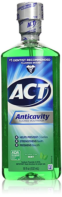 Act Anticavty Fluoride Mw Size 18z Act Anticavity Fluoride Mouth Wash Mint