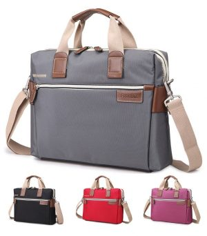 Bonvince Nylon Laptop Sleeve Messenger