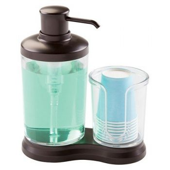 New New Gina Mouthwash Caddy Clear/Bronze