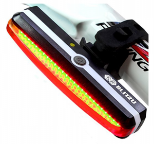 Blitzu Cyborg 168T USB Rechargeable Bicycle Tail Light