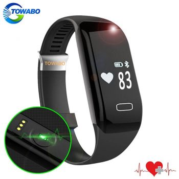 Towabo Fitness Tracker Wristband with Heart Rate monitor E3S