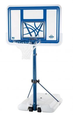 Roll over image to zoom in Lifetime 1306 Pool Side Height Adjustable Portable Basketball System