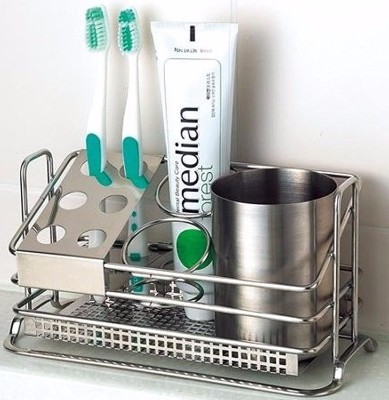 10 - Stafix Stainless Steel Toothbrush Holder
