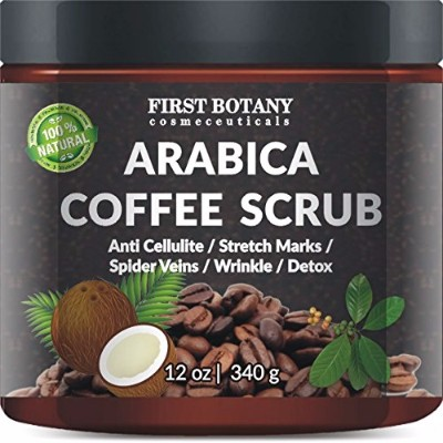 2 - 100% Natural Arabica Coffee Scrub 12 Oz