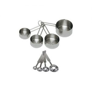 ChefLand Stainless Steel Measuring Cup and Spoon set 8 piece Set