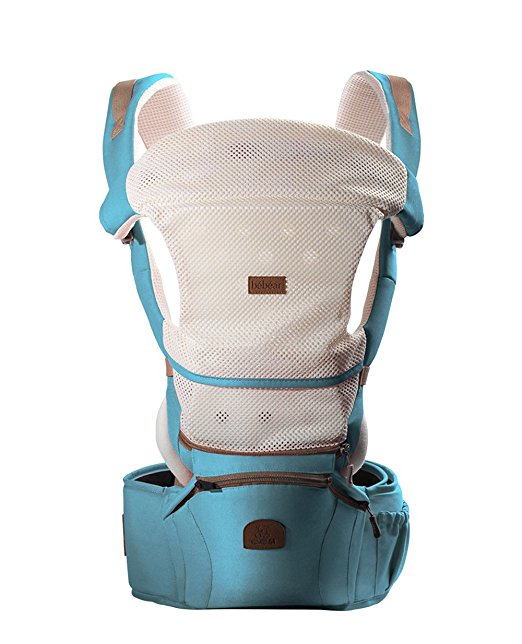 Bebamour 360 Best Baby Carrier Hip Seat Sling Baby Backpack Carriers (Blue)
