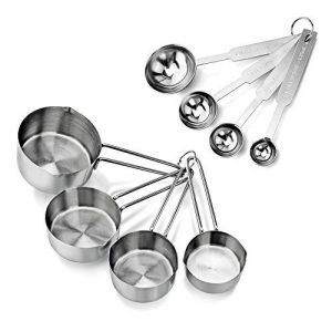 New Star Foodservice Measuring Cups and Spoons Combo 4 Piece Set