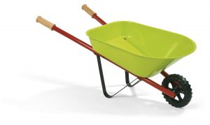 Janod Metal Wheelbarrow with 1 Shovel and 1 Rake