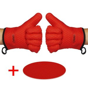Premium Food Grade BBQ Grilling Gloves with Fingers
