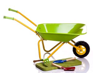 Children Green Metal Wheelbarrow