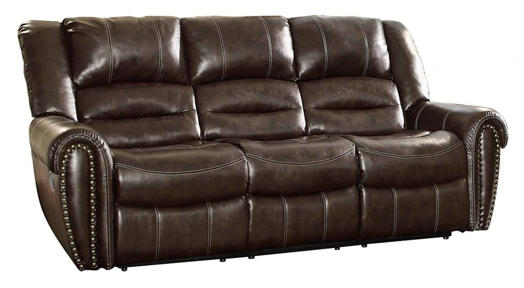 Homelegance 9668BRW 3 Reclining Sofa