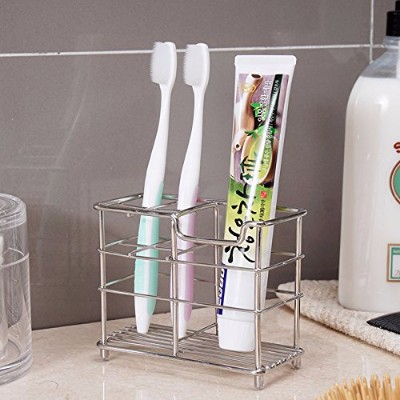 9 - K-Steel Stand Bathroom Toothbrush Toothpaste Holder