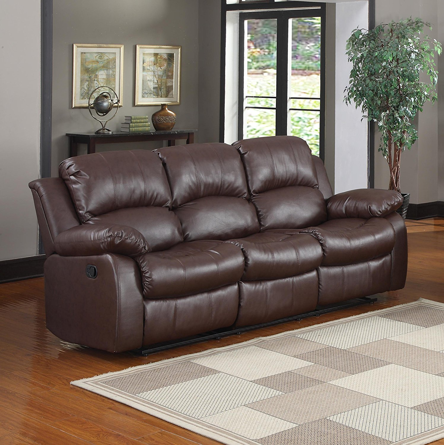 Best Reclining Leather Sofa Reviews Best Leather Reclining Sofas Review In 2018 Amatop10 Thesofa