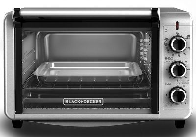 BLACK+DECKER TO3210SSD 6-Slice Convection Countertop Toaster Oven