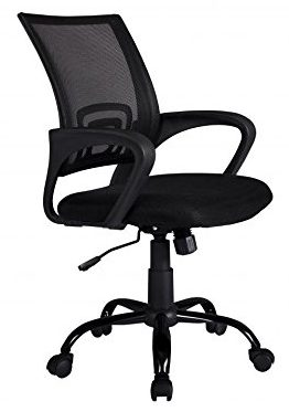 Black Ergonomic Mesh Computer Office Desk Midback Task Chair