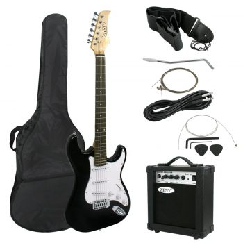"Zeny 39"" Full Size Electric Guitar with Amp, Case and Accessories Pack Beginner"