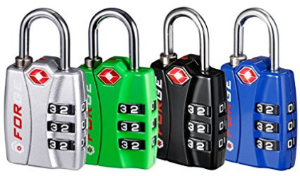 Forge TSA Lock 4 Pack 4 Colors