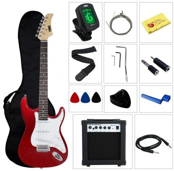 Full Size Electric Guitar with Amp