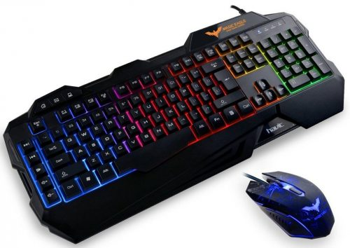 HAVIT Rainbow Backlit Wired Gaming Keyboard