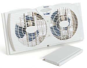 Holmes Dual-Blade Twin Window Fan, White
