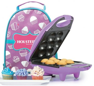 Holstein Housewares HM-09101P-BU Mini Cupcake Maker