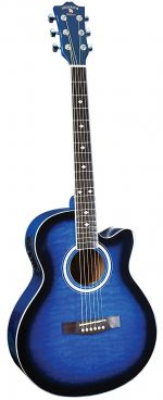 INDIANA Madison MAD-QTBL Acoustic-Electric Guitar - Blue Sunburst