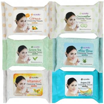 Kareway Epielle Assorted Makeup Remover Cleansing Towelettes