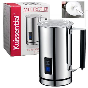 Kuissential Deluxe Automatic Milk Frother and Warmer, Cappuccino Maker