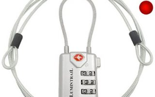 Lumintrail TSA Approved All Metal Personalized International Luggage Combination Travel Lock