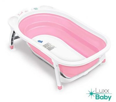 Luxx Baby BF1 Folding Bath Tub by Karibu w/Non-Slip Mat