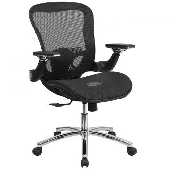 Mid-Back Black Mesh Executive Swivel Office Chair