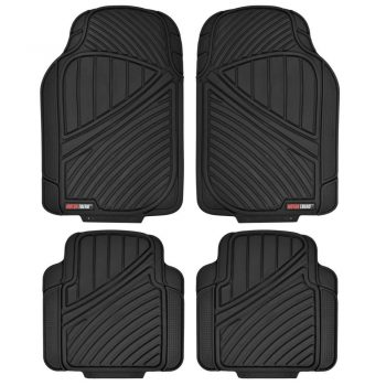 Motor Trend FlexTough Standard - 4pc Heavy Duty Rubber Floor Mats