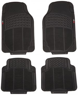 MotorTrend 4 Piece Heavy Duty Rubber Floor Mats