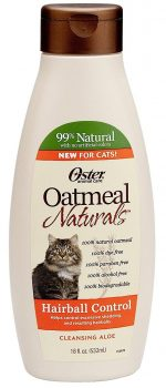 Oster 078590-735 Oatmeal Naturals Hairball Control Cat Shampoo