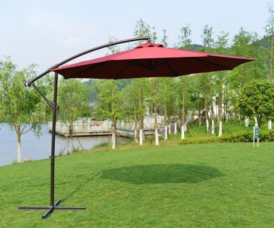 PatioPost 10 Ft Deluxe Offset Hanging Patio Umbrella